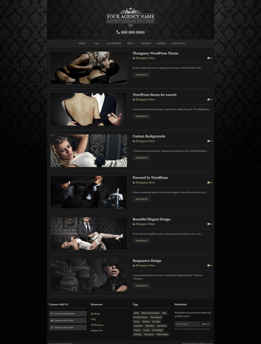 sccreenshot of blog page for TheAgency wordpress theme