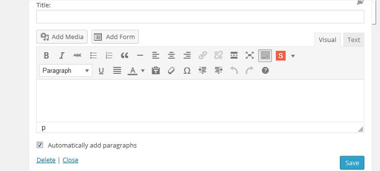 wordpress widget with visual editor