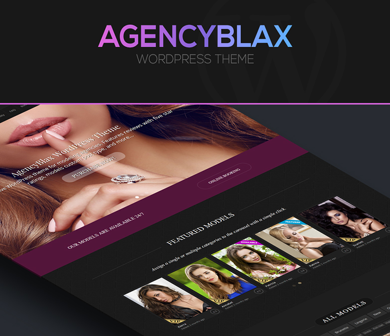 Escort Agency WordPress Theme AgencyBlax screenshot