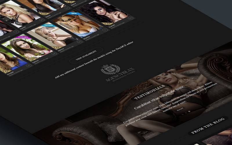 Escort Agency WordPress Theme