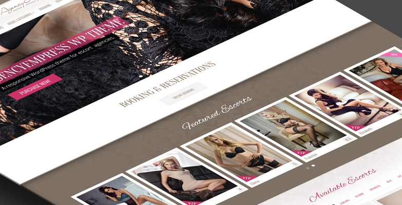 Escort agency wordpress website AgencyEmpress